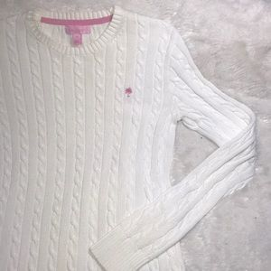 Just in-Lilly Pulitzer Cable Knit Sweater